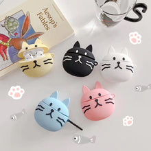 Load image into Gallery viewer, Cute Blue Cat Premium AirPods Case Shock Proof Cover