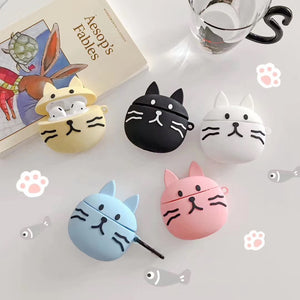 Cute Black Cat Premium AirPods Case Shock Proof Cover
