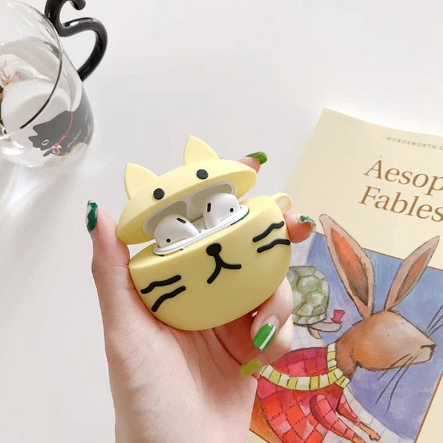 Cute Yellow Cat Premium AirPods Case Shock Proof Cover