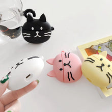 Load image into Gallery viewer, Cute Black Cat Premium AirPods Case Shock Proof Cover