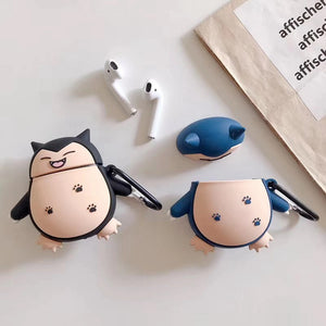 Happy Snorlax 'Blue' Premium AirPods Case Shock Proof Cover