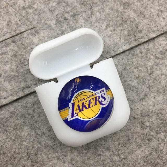 Los Angeles Lakers Airpods Case Shock Proof Cover