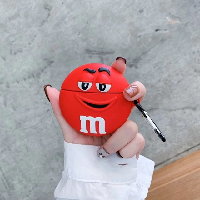 M&M's 'Smiling Red' Premium AirPods Case Shock Proof Cover