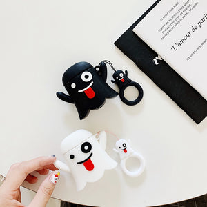 Cute Ghost 'Black' Premium AirPods Case Shock Proof Cover
