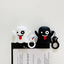 Load image into Gallery viewer, Cute Ghost 'Black' Premium AirPods Case Shock Proof Cover