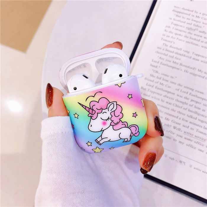 Purple Unicorn AirPods Case Shock Proof Cover