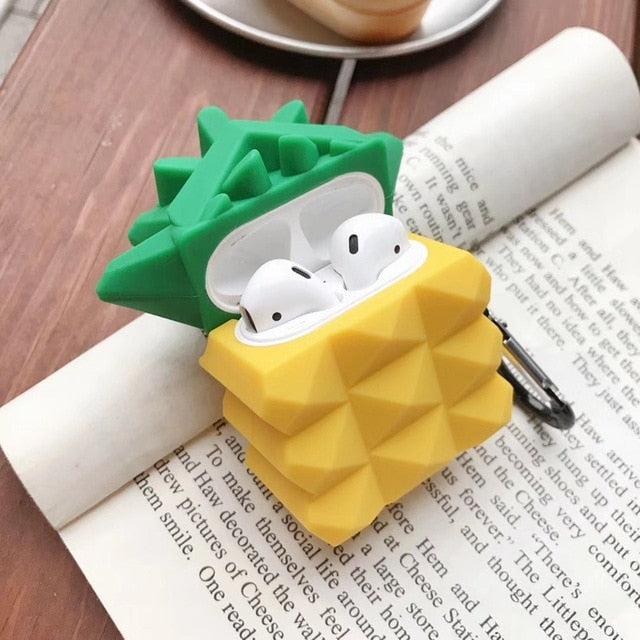 Pineapple 'Geometric' Premium AirPods Case Shock Proof Cover