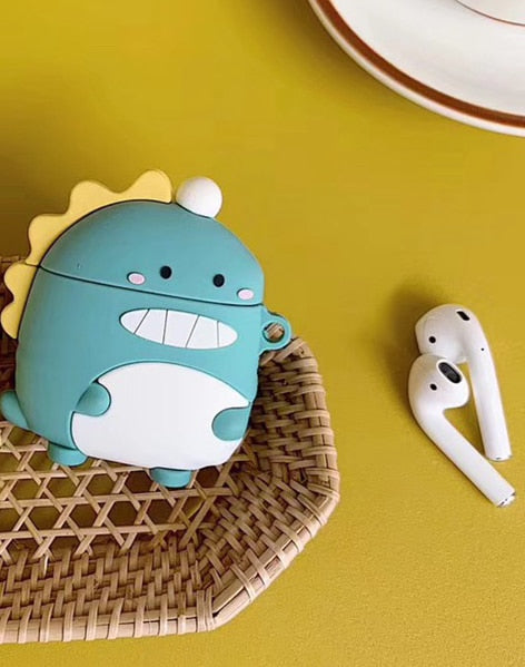 Cute Happy Dinosaur Premium AirPods Case Shock Proof Cover