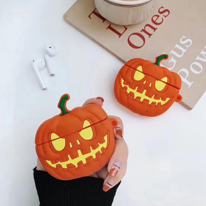 Halloween Evil Pumpkin Jack O Lantern Premium AirPods Case Shock Proof Cover