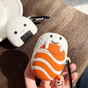 Cute Sushi 'Sushi Rice' Premium AirPods Case Shock Proof Cover