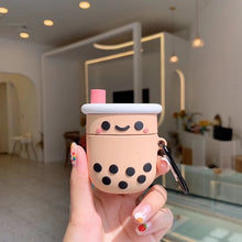 Load image into Gallery viewer, Happy Bubbletea Premium AirPods Case Shock Proof Cover