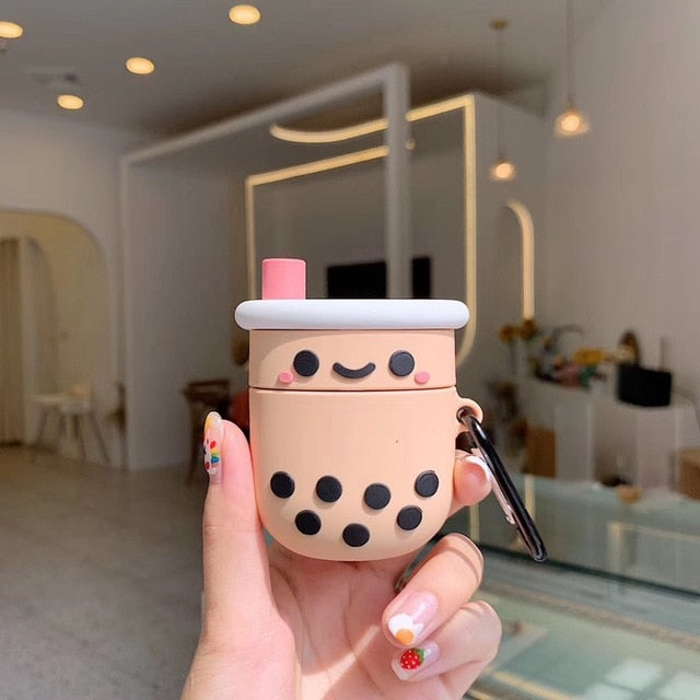 Happy Bubbletea Premium AirPods Case Shock Proof Cover