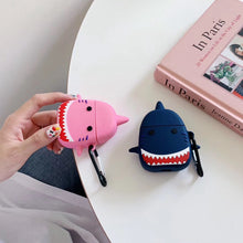 Load image into Gallery viewer, Angry Shark 'Pink Premium AirPods Case Shock Proof Cover