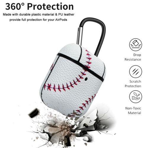 Baseball AirPods Case Shock Proof Cover