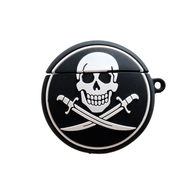 Pirate Skull Logo Premium AirPods Case Shock Proof Cover