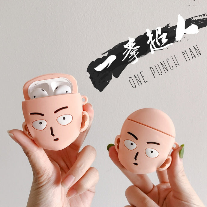 One Punch Man 'Serious Saitama' Premium AirPods Case Shock Proof Cover