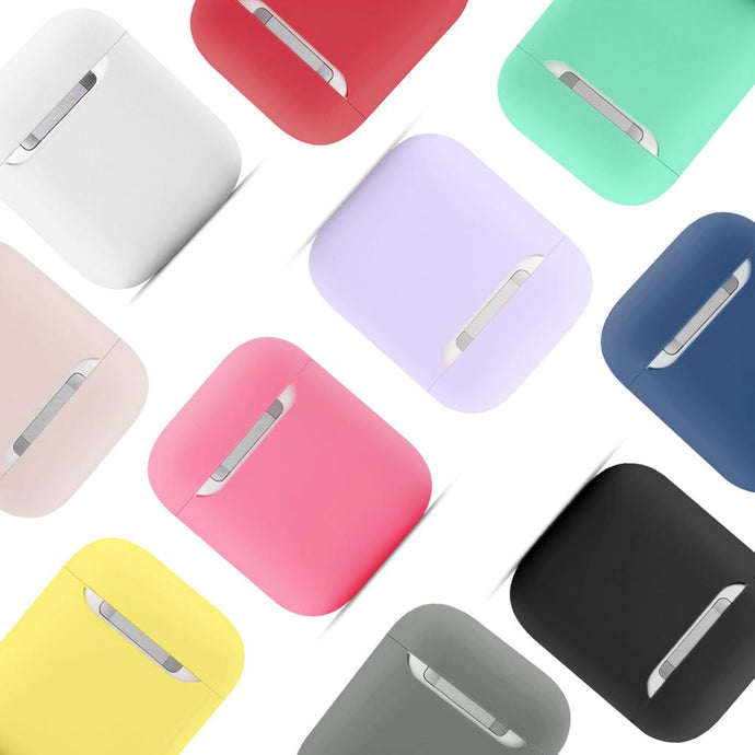 Simple Slim Silicone Assorted Colors Airpods Case Covers