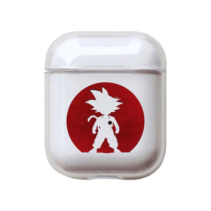 Dragon Ball Z | DBZ 'Goten Silhouette' Clear Acrylic AirPods Case Shock Proof Cover