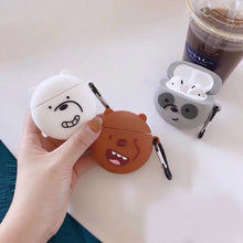 Load image into Gallery viewer, We Bare Bears 'Smirking Panda' Premium AirPods Case Shock Proof Cover