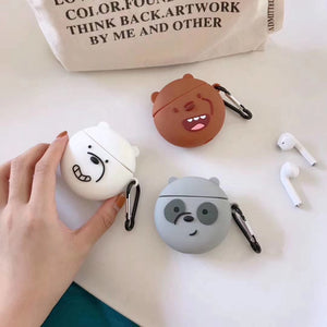 We Bare Bears 'Smirking Panda' Premium AirPods Case Shock Proof Cover
