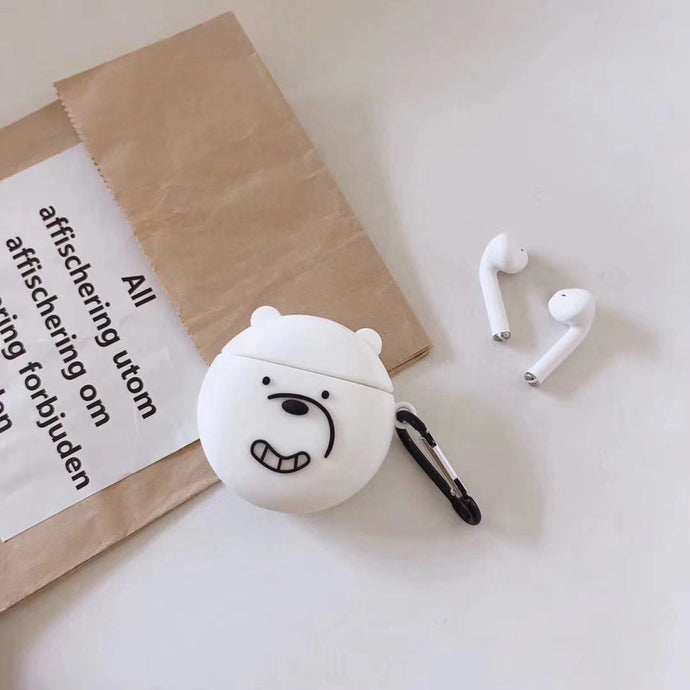 We Bare Bears 'Smiling Polar Bear' Premium AirPods Case Shock Proof Cover