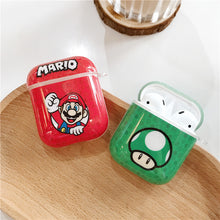 Load image into Gallery viewer, Super Mario Bros '1 UP' Mushroom AirPods Case Shock Proof Cover