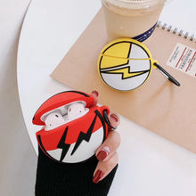 Load image into Gallery viewer, Pokemon 'Red Lightning Pokeball' Premium AirPods Case Shock Proof Cover