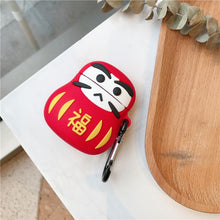 Load image into Gallery viewer, Japanese Good Luck Daruma Tumbler Doll Premium AirPods Case Shock Proof Cover