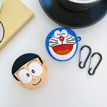 Load image into Gallery viewer, Doraemon 'Dark Blue Laughing' Premium AirPods Case Shock Proof Cover