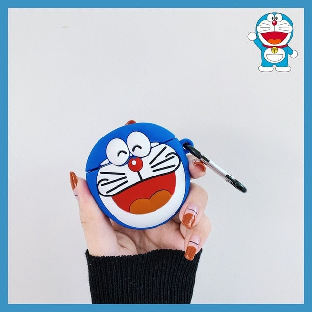 Doraemon 'Dark Blue Laughing' Premium AirPods Case Shock Proof Cover
