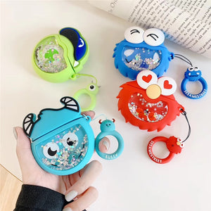 Sesame Street 'Cookie Monster Snow Globe' Premium AirPods Case Shock Proof Cover