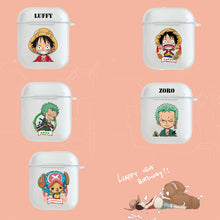 Load image into Gallery viewer, One Piece 'Luffy' Clear Acrylic AirPods Case Shock Proof Cover