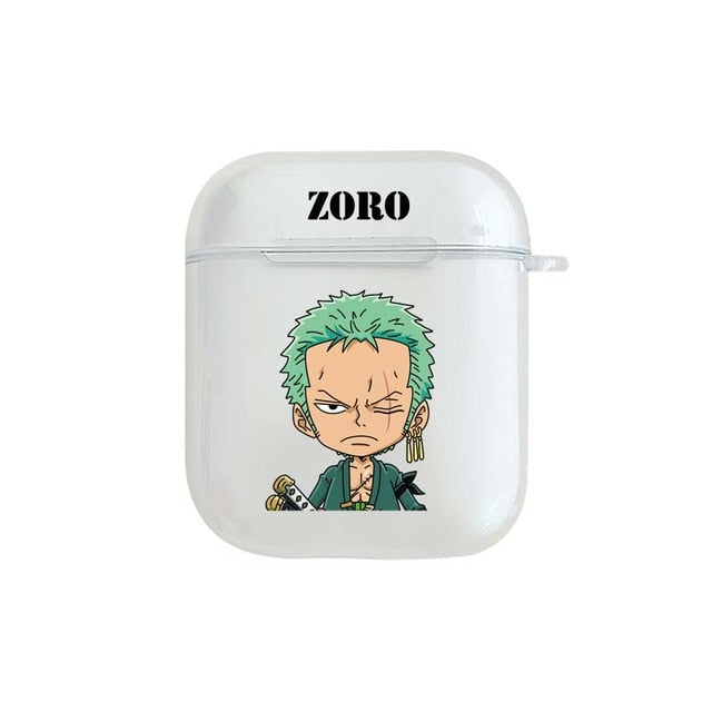 One Piece 'Zoro' Clear Acrylic AirPods Case Shock Proof Cover