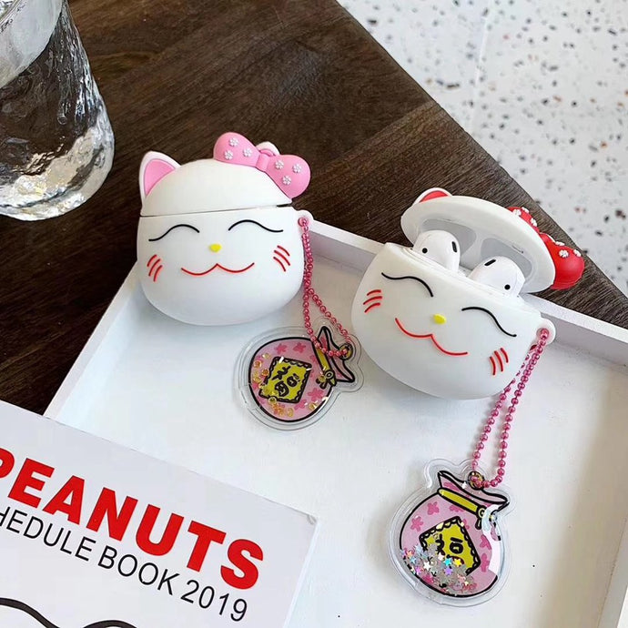 Cute Japanese Cat Premium AirPods Case Shock Proof Cover