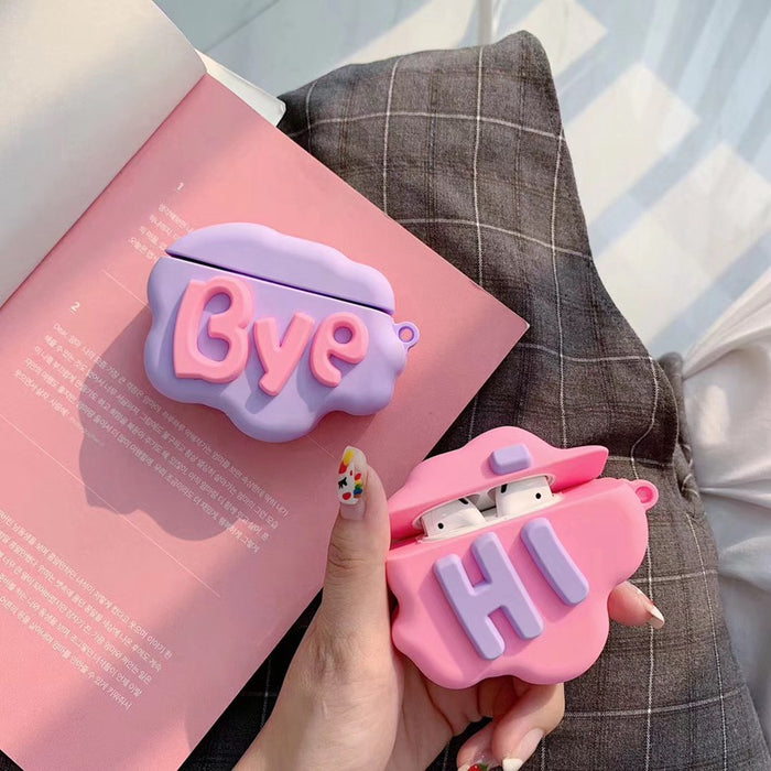 Cute 'Hi' Premium AirPods Case Shock Proof Cover