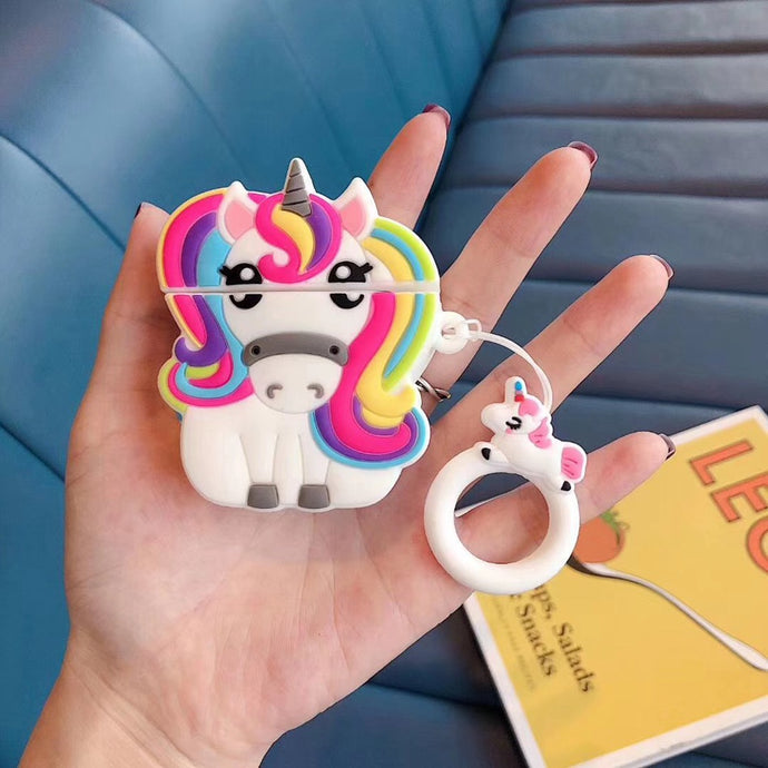 Cute 3D Rainbow Unicorn Premium AirPods Case Shock Proof Cover