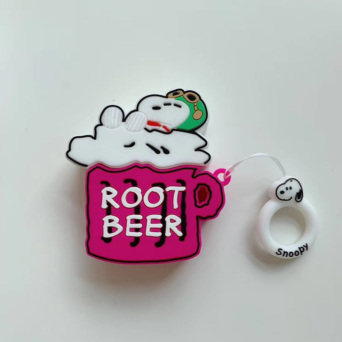 Charlie Brown 'Root Beer' Premium AirPods Case Shock Proof Cover