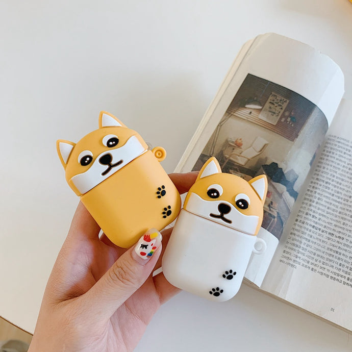 Cute Blonde and White Corgi Dog Premium AirPods Case Shock Proof Cover