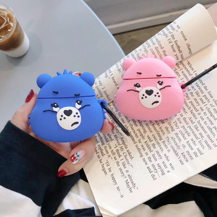'Pouty Grumpy Bear' Premium AirPods Case Shock Proof Cover