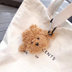 Cute Plush Furry Doggy Premium AirPods Case Shock Proof Cover