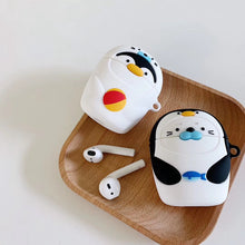 Load image into Gallery viewer, Penguin in a Seal Costume Premium AirPods Case Shock Proof Cover