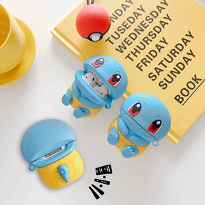 Pokemon 'Cute Sitting Squirtle' Premium AirPods Case Shock Proof Cover