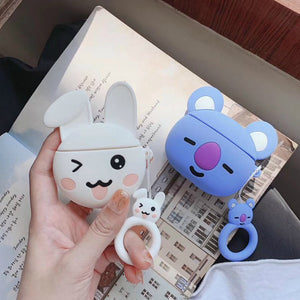 Cute Winking Bunny Premium AirPods Case Shock Proof Cover