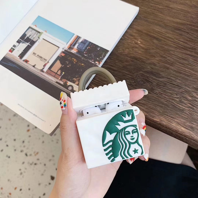 Cute Starbucks Bag Premium AirPods Case Shock Proof Cover