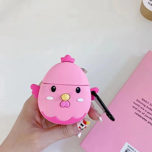 Cute Pink Chicken Premium AirPods Case Shock Proof Cover