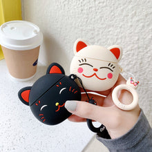 Load image into Gallery viewer, Japanese Neko Cat Premium AirPods Case Shock Proof Cover