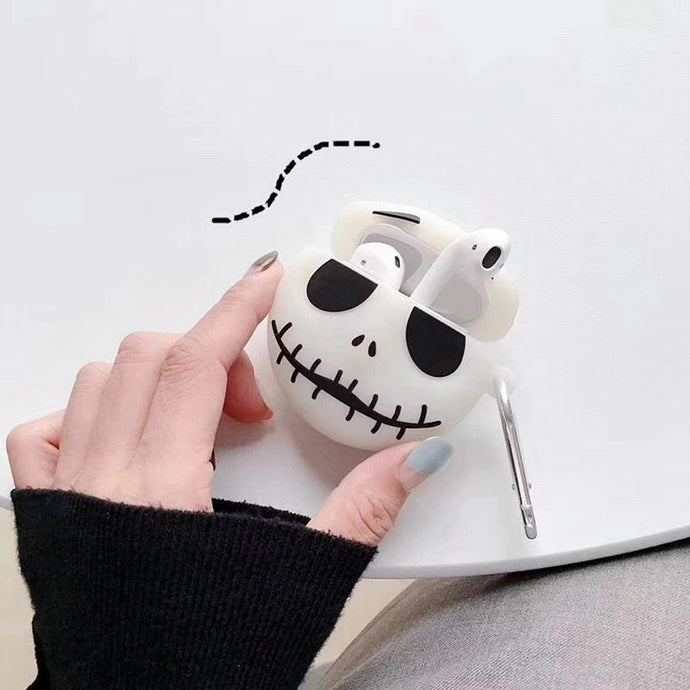 Nightmare Before Christmas 'Jack Skellington | Glow in the Dark' Premium AirPods Case Shock Proof Cover
