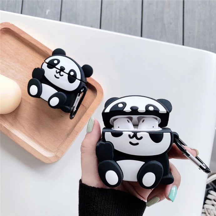 Cute Panda Premium AirPods Case Shock Proof Cover