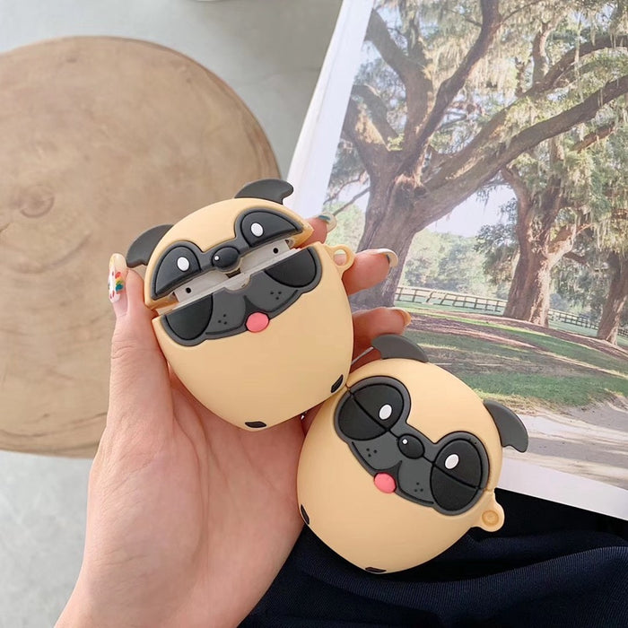 Cute Doggy Pug Premium AirPods Case Shock Proof Cover