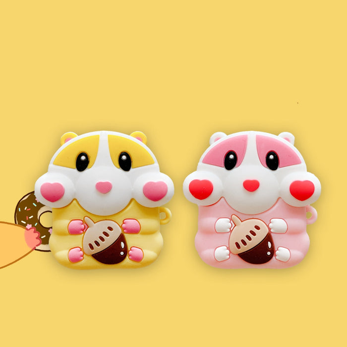 Cute Chipmunk with Acorn Premium AirPods Case Shock Proof Cover